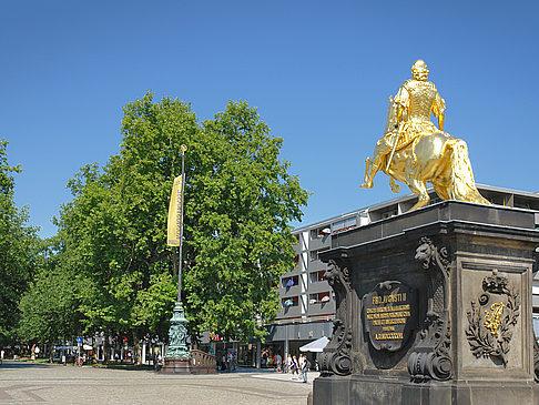 Der Goldene Reiter Dresden Foto Goldener Reiter Dresden