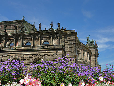 Semperoper mit Blumen Fotos